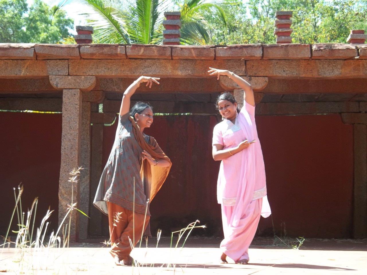 Ranjani dancing with her amma
