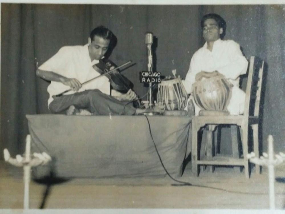 Panditji - performing violin concert